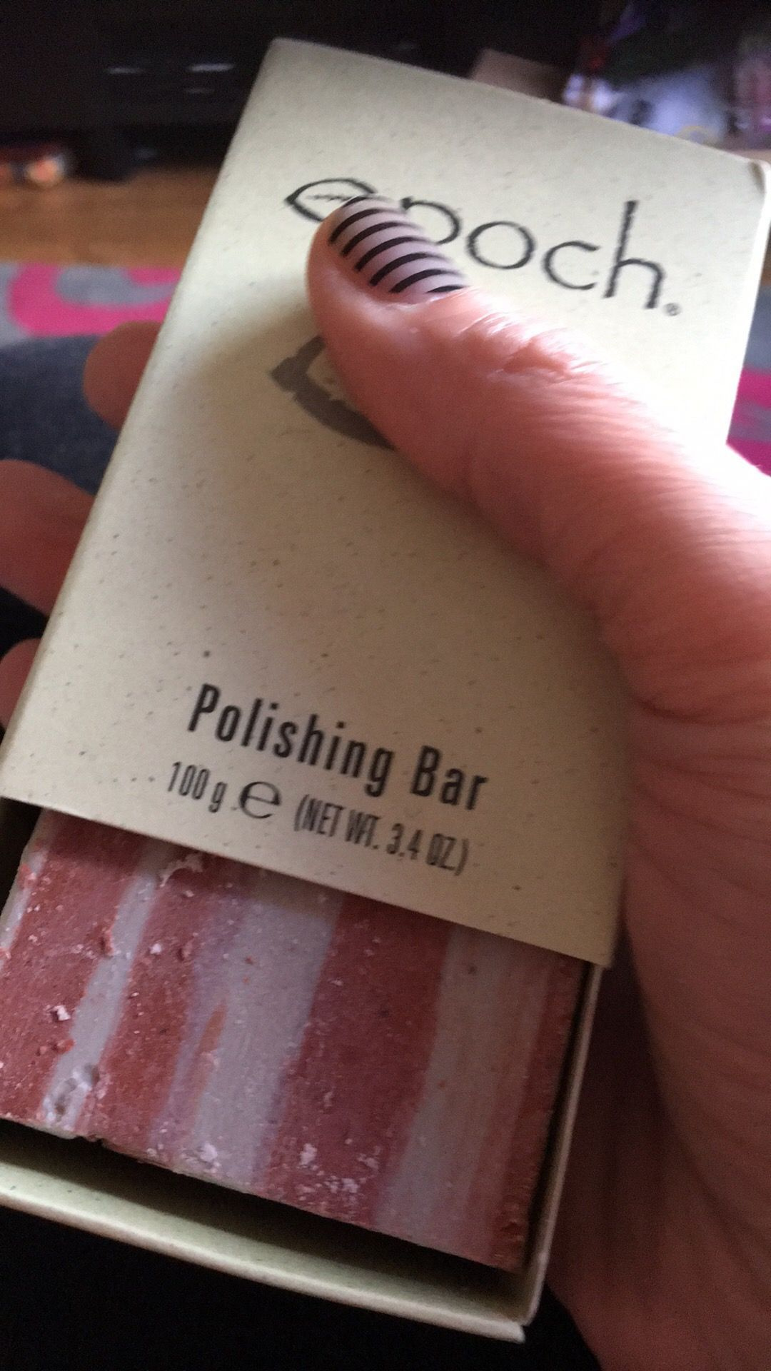 Polishing Bar! This amazing non soap bar contains glacial