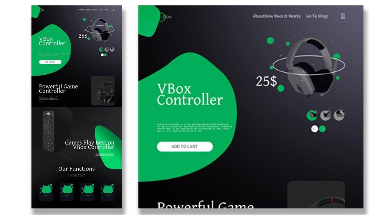 How To Design A Website With Photoshop Cc 2020 Stylish Gaming Accessor Web Design Inspiration Portfolio Photoshop Web Design