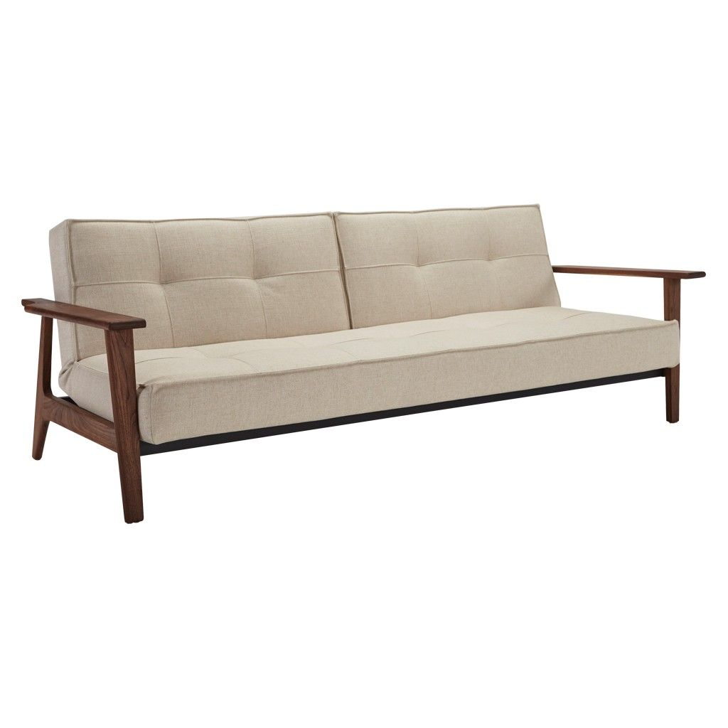 Crawford Futon Sofa Bed With Storage Corner And Table Outdoor Walnut Small Double Contemporary