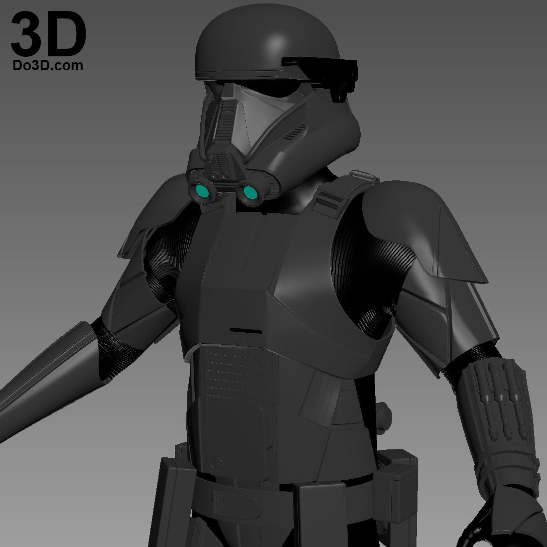 3d printable model death trooper star wars rogue one full. Black Bedroom Furniture Sets. Home Design Ideas