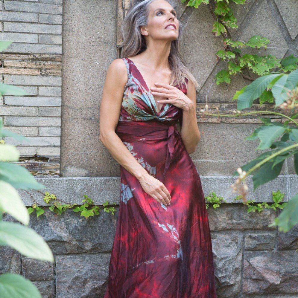 Dress to wear to a fall wedding  Our classic red mother of the bride dress  MoMo SoHo Fall