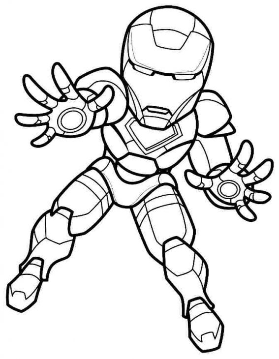 Mini Super Hero Squad Iron Man Coloring Page