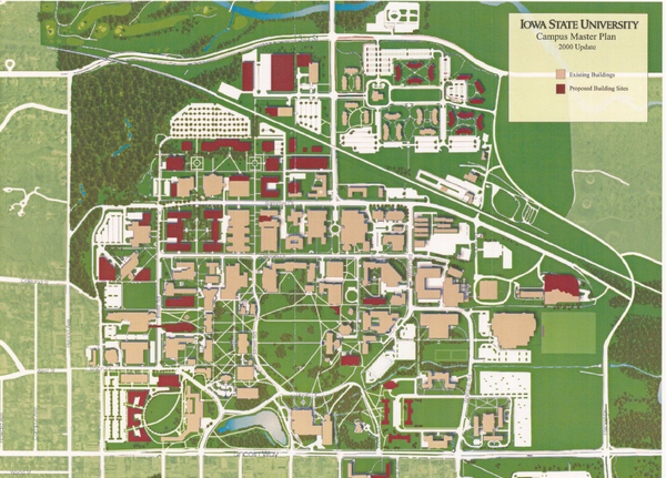 This Is A Map Of Iowa State S University Campus Iowa State Is In