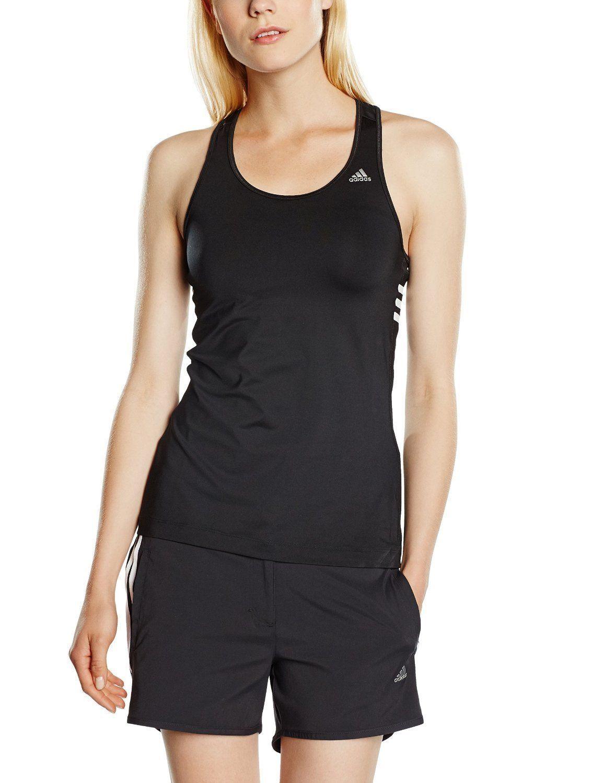 c9a0b24db53d Adidas Performance Womens Athletic Tank Top Ladies Gym Racerback 3 Stripe  Vest