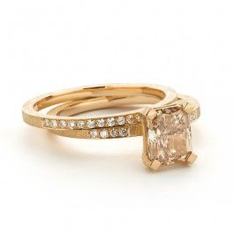Stunning Old Rose Color Diamond Ring