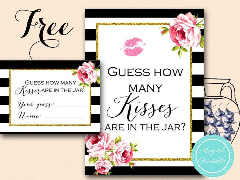 Free Gold Black Stripes Bridal Shower Games | Pinterest