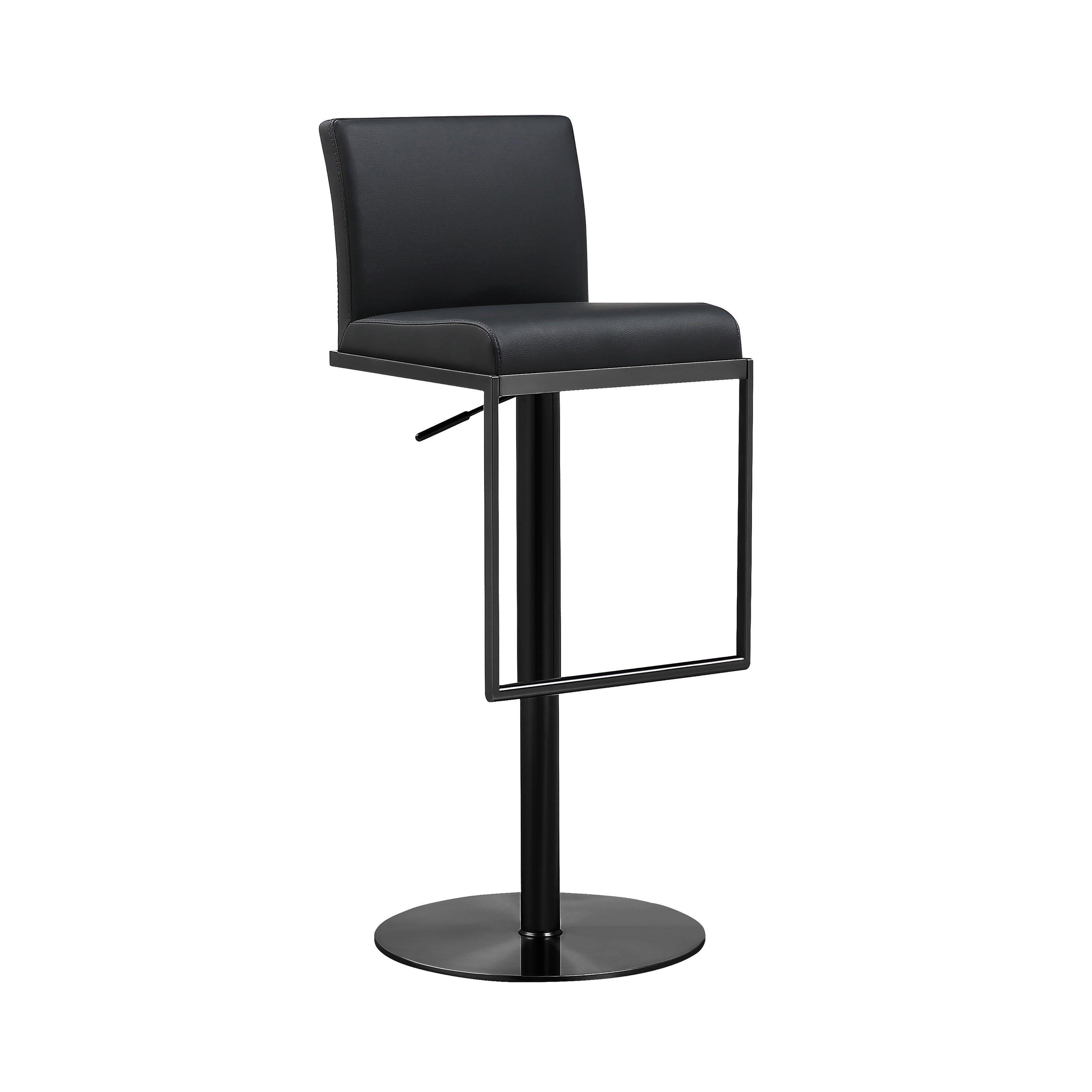 Amalfi Black On Black Steel Barstool N A Tov Furniture