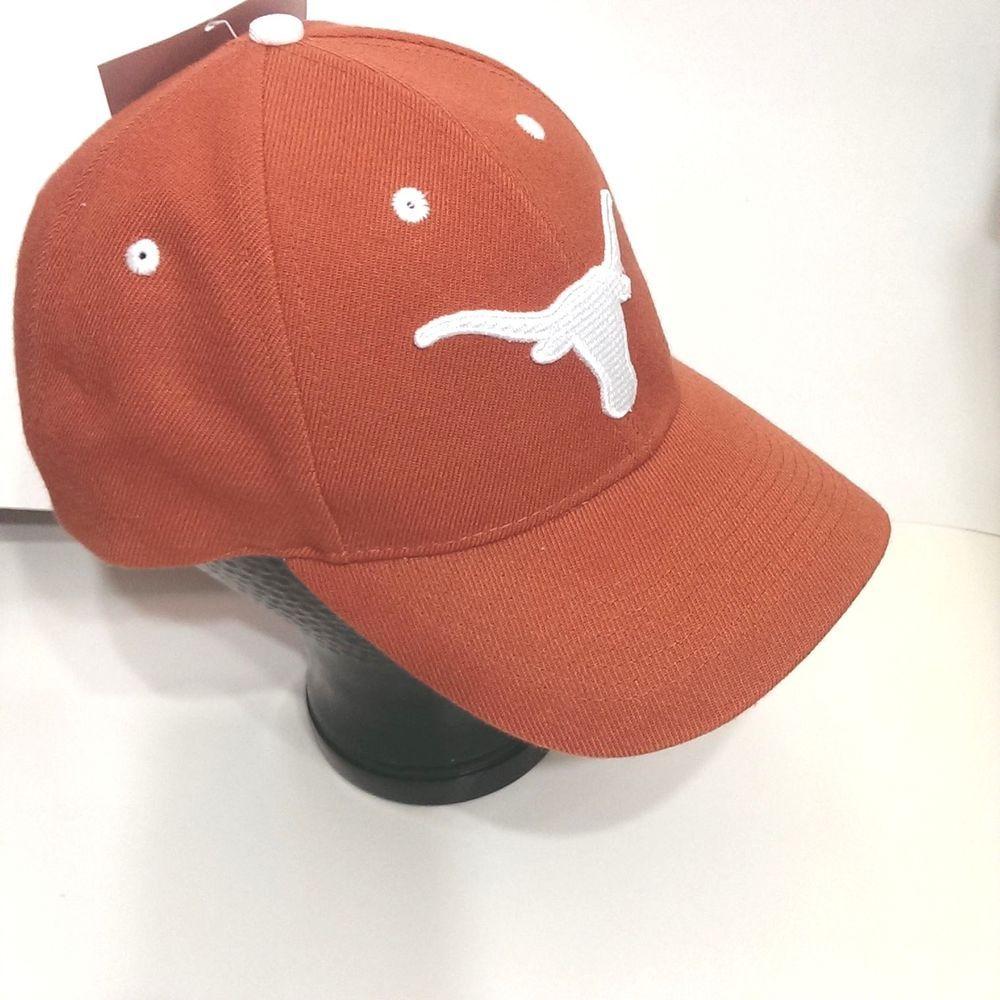 0450fd52ee690 Texas Longhorns NCAA Collegiate Cap Hat Burnt Orange Hook Loop Closure 3D  Adult  Unbranded