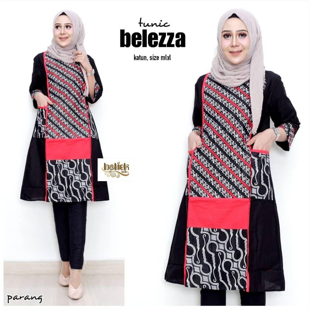 Desain Baju Batik Modern Casual Hijab  Pakaian model, Wanita