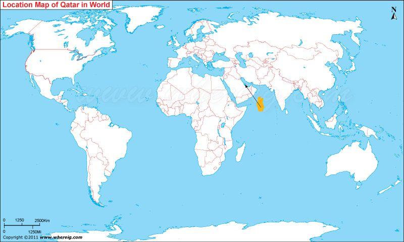 Qatar Location Map Maps Pinterest Arabian peninsula