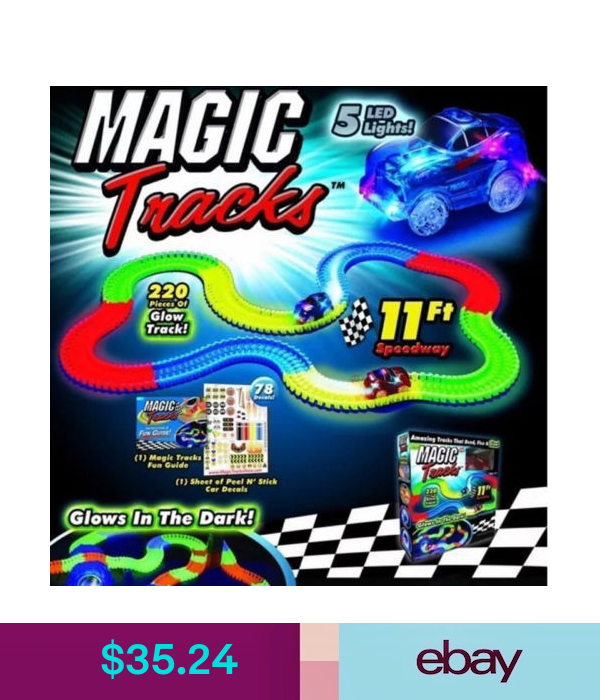Toy Trains Magic Tracks Diy 240 Glow In The Dark Led Light Up Race Car Bend Flex Racetrack Ebay Collectibles Toy Cars For Kids Toys For Boys Classic Toys