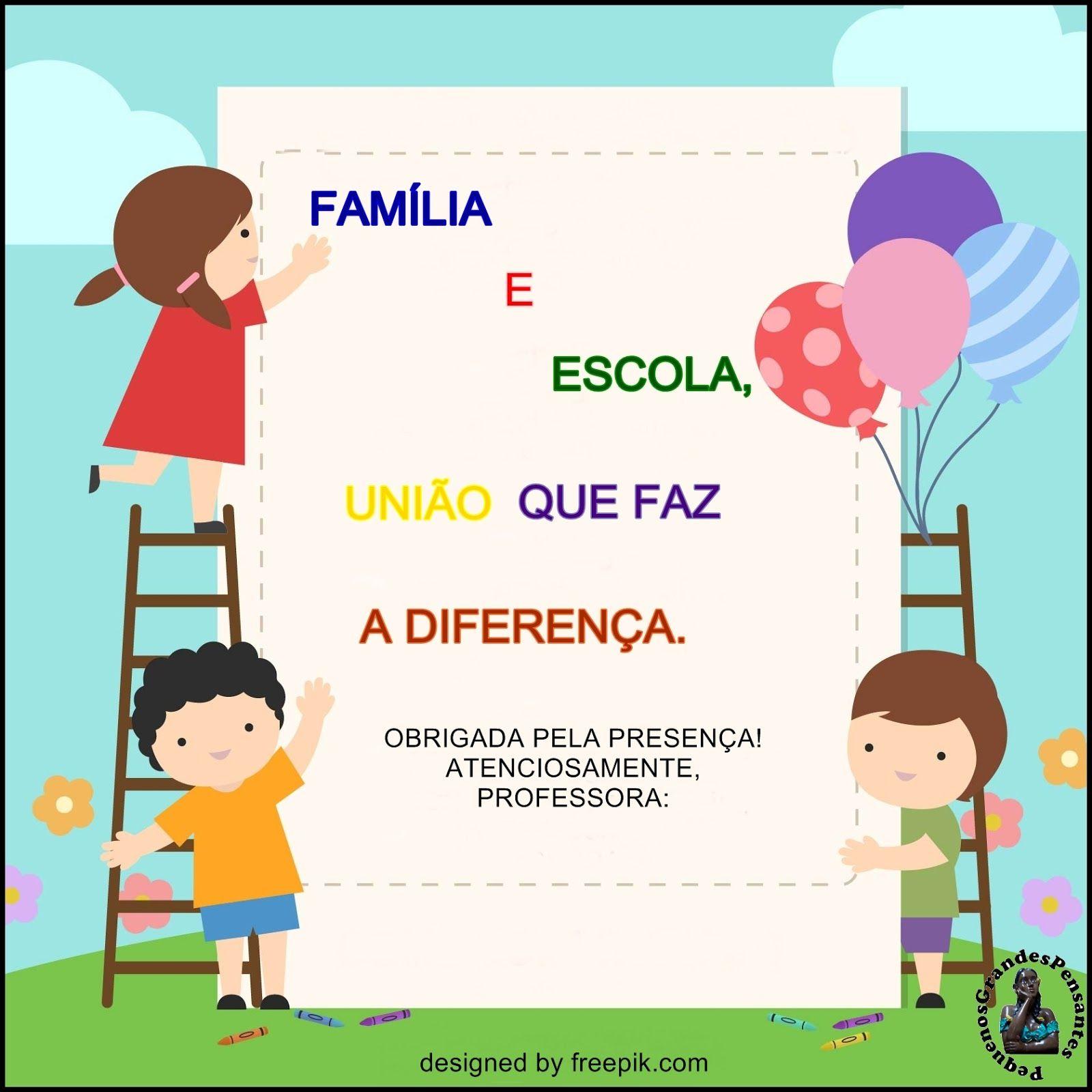 Preferência Cartões e Mensagens para Reunião de Pais e Mestres | Pai, Cartão e  NR62