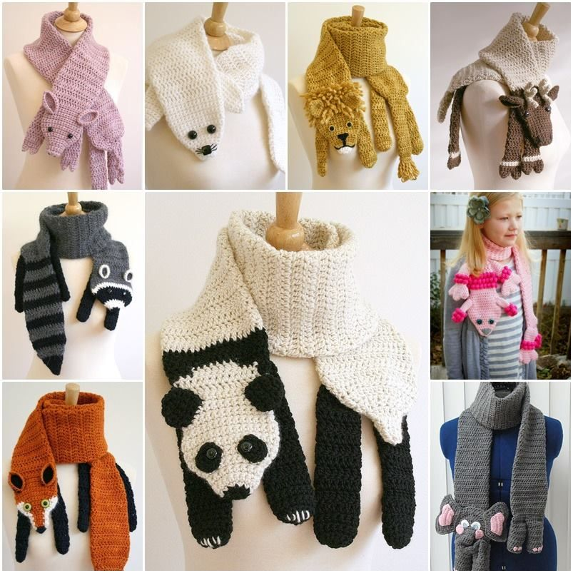 Crochet Animal Scarves Patterns You\'ll Love Video Tutorial | Tejidos ...