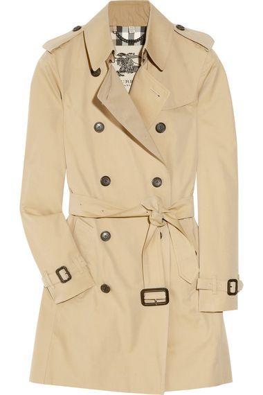 Burberry London Cotton Gabardine Trench Coat Coats