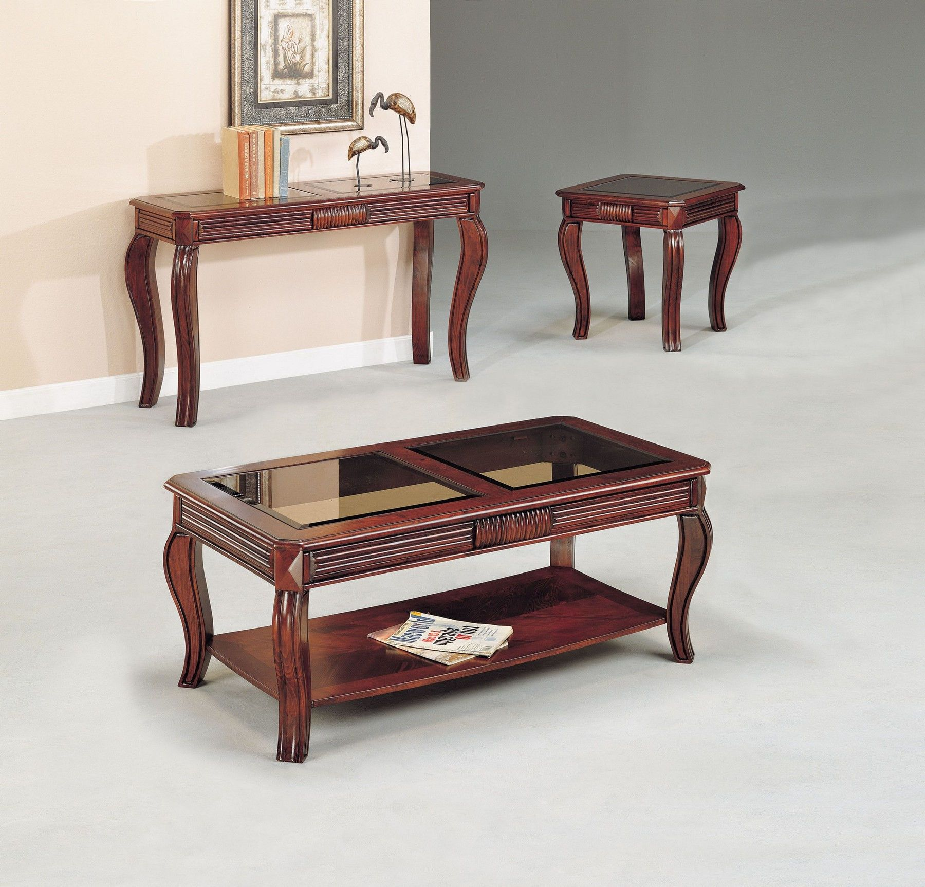 Overture Coffee Table 2 End Tables 06152 Acme Corporation Coffee Tables In 2021 Coffee Table Center Table Living Room Furniture [ 1726 x 1800 Pixel ]