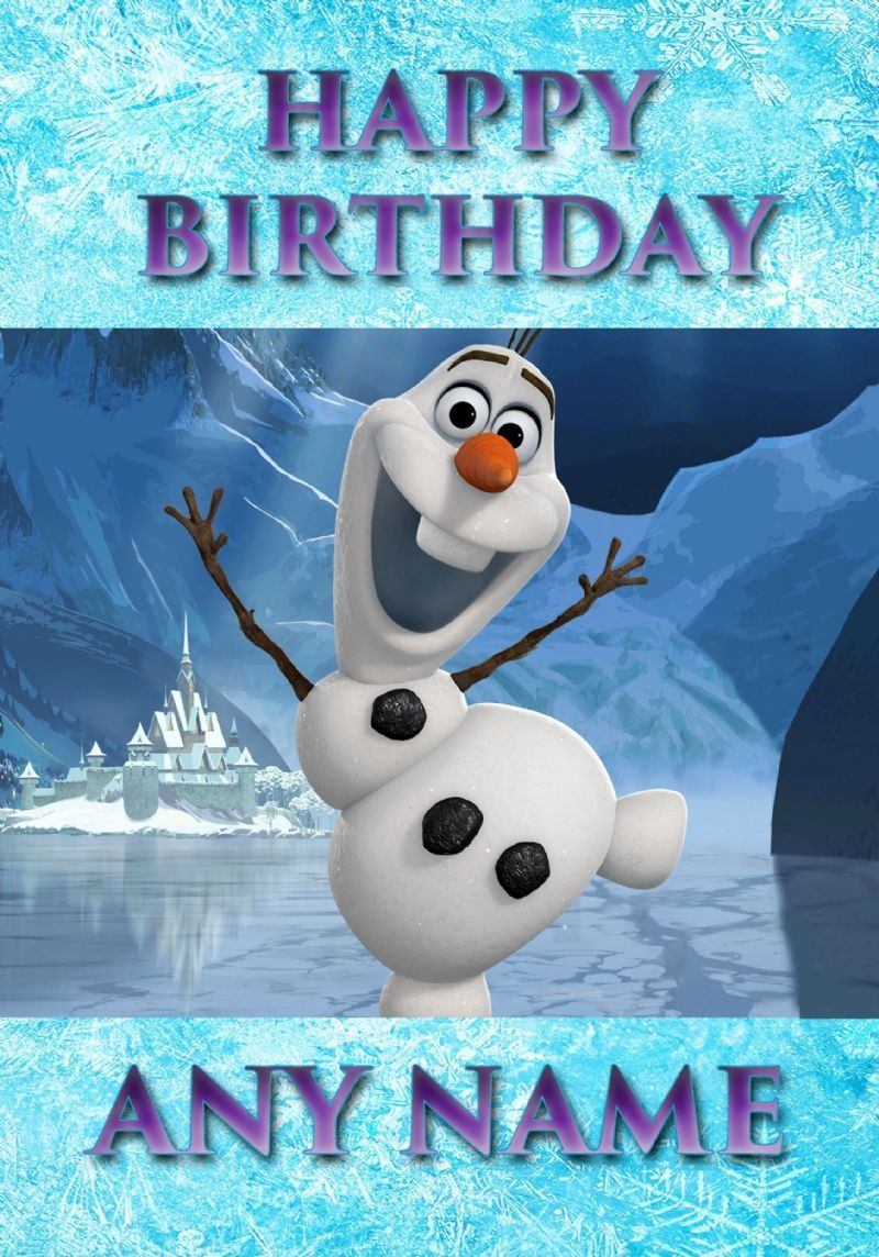 olaf 5th birthday card printable – Personalised Birthday Cards for Kids