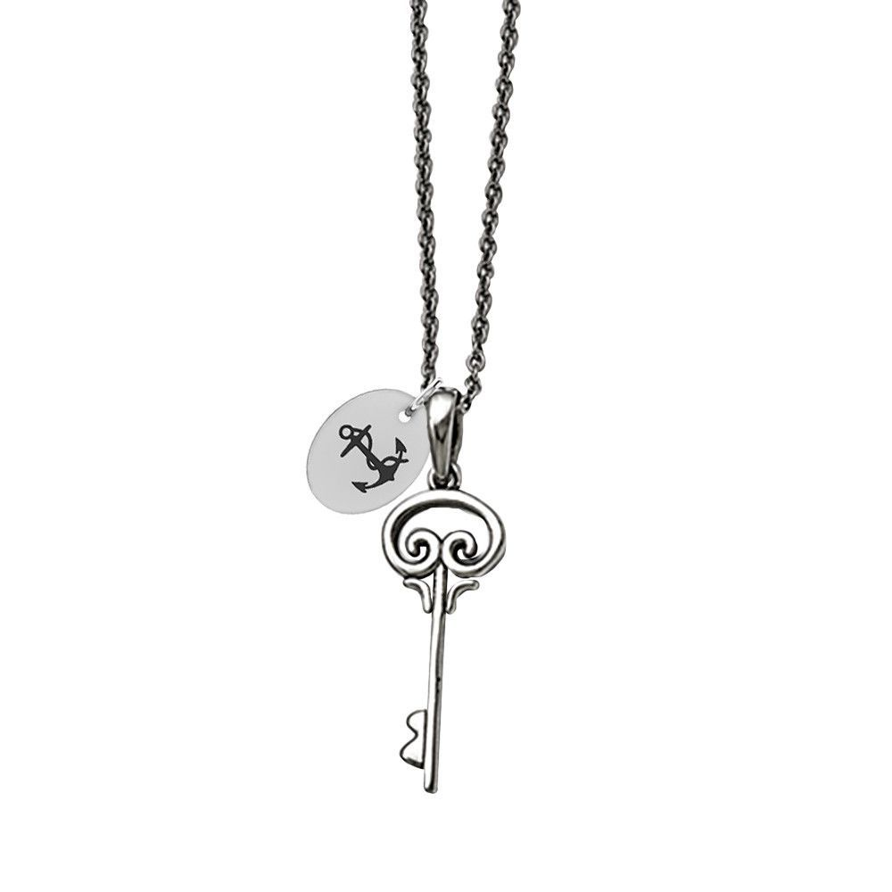 Delta Gamma Symbol Stainless Steel Key Necklace Key Necklace