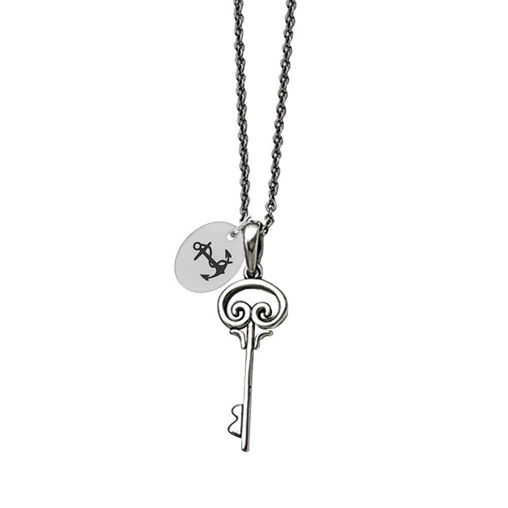 Delta gamma symbol stainless steel key necklace gamma symbol key delta gamma symbol stainless steel key necklace buycottarizona Gallery