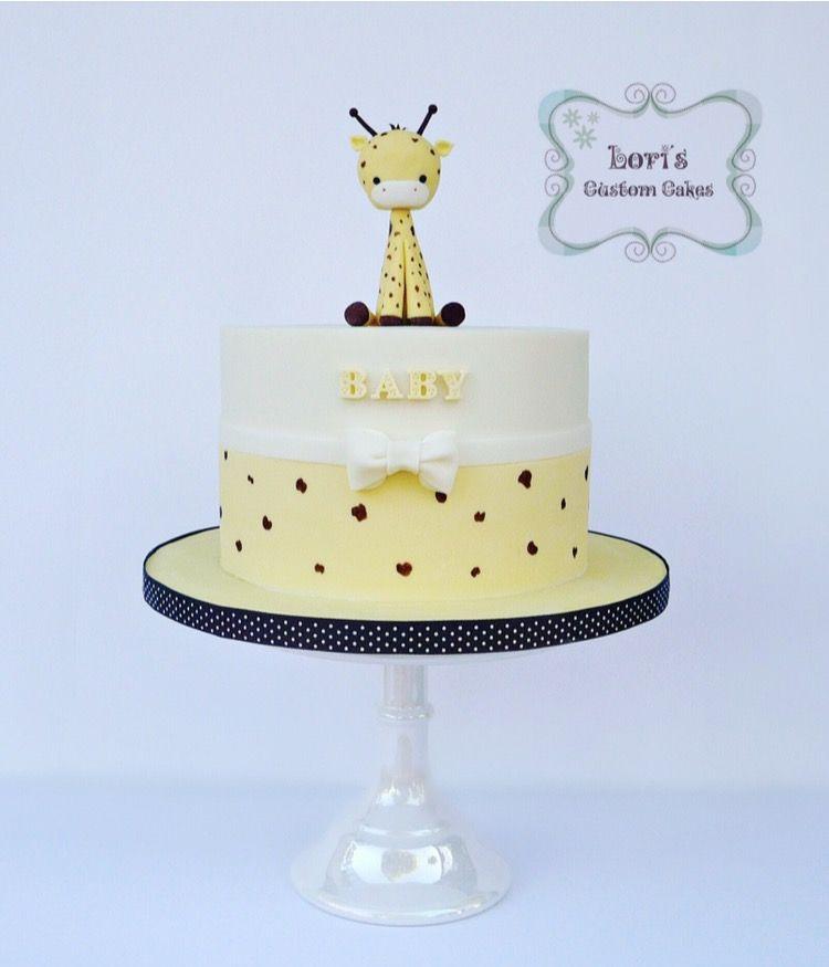 Giraffe Cake For A Baby Shower Loris Custom Cakes Pinterest