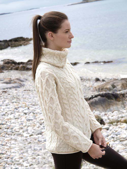 Populaire Pull col roulé en pure laine Mérinos - 100 % Mérinos | Look  ZH31