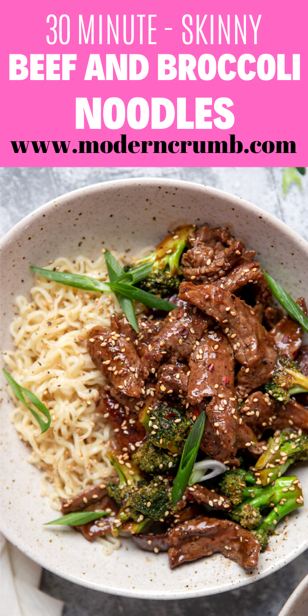 Skinny Beef And Broccoli Noodles Recipe Creamy Pasta Dishes Beef Healthy Chicken Dinner