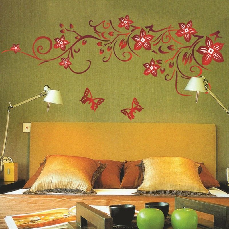 Home Decor Wall Stickers Mural Decal Flowers Art Vine | autocollants ...