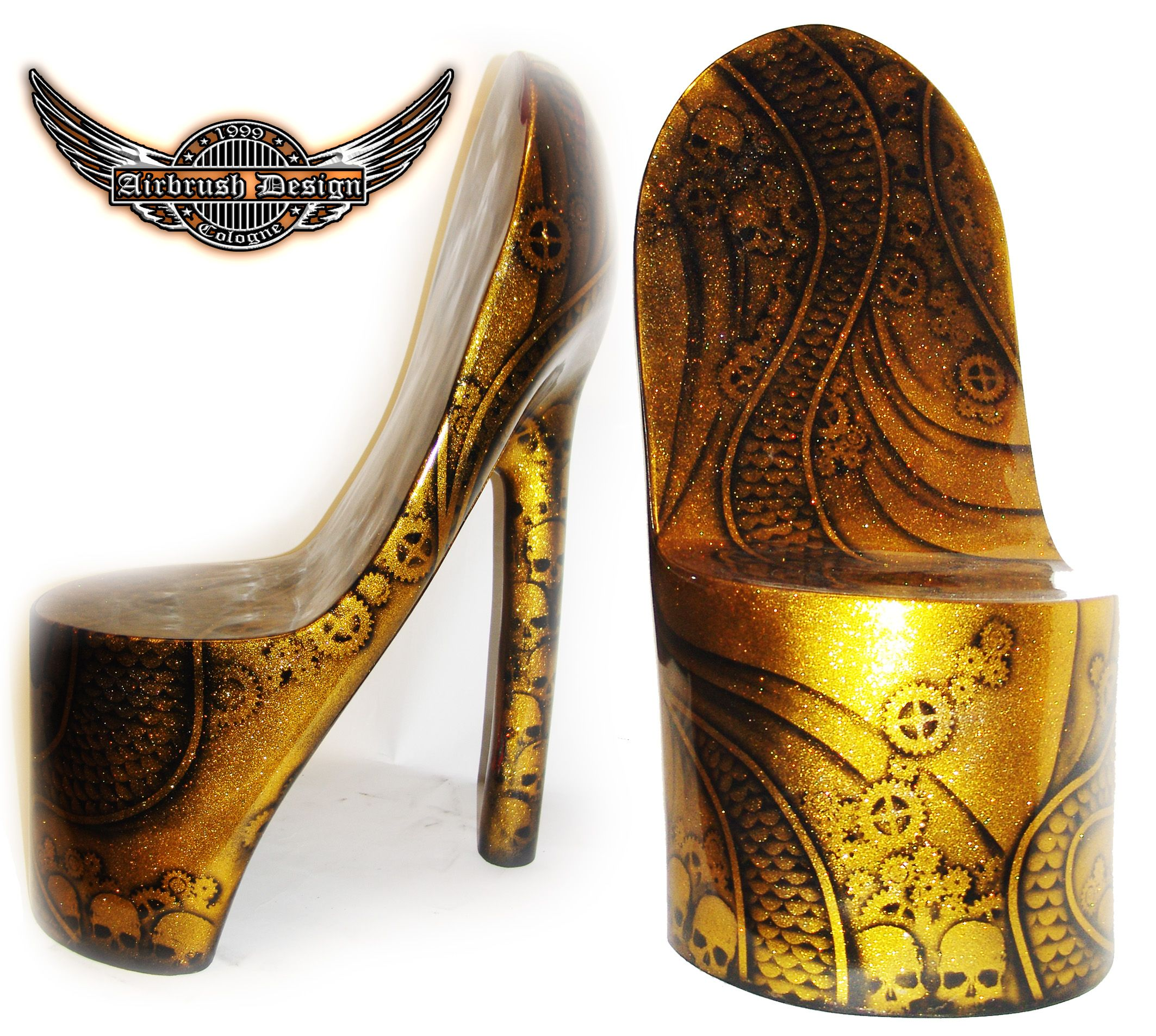 high heel sessel, steampunk airbrush high heels sessel gfk | airbrush | pinterest, Design ideen
