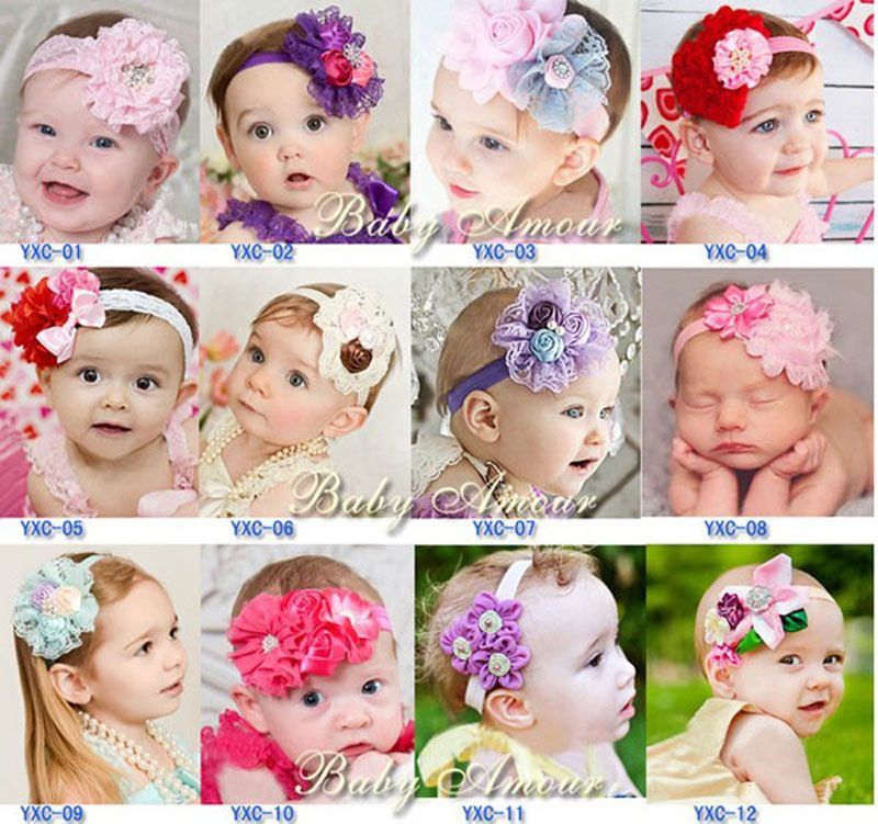 Kids Hair Accessories Infants Lace Cute Girl Hairbands Flower Headband Baby
