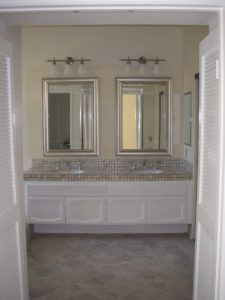 Superbe Brushed Nickel Bathroom Mirror Frame
