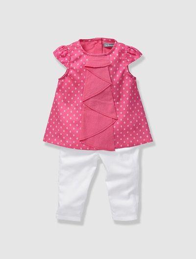 Conjunto 2 prendas blusa + pantalón bebé niña ROSA CLARO ESTAMPADO ... 7e38f075ae22