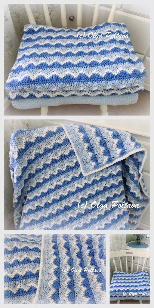 Ocean Waves Afghan Crochet Pattern By Olga Poltava Can Be Adjusted