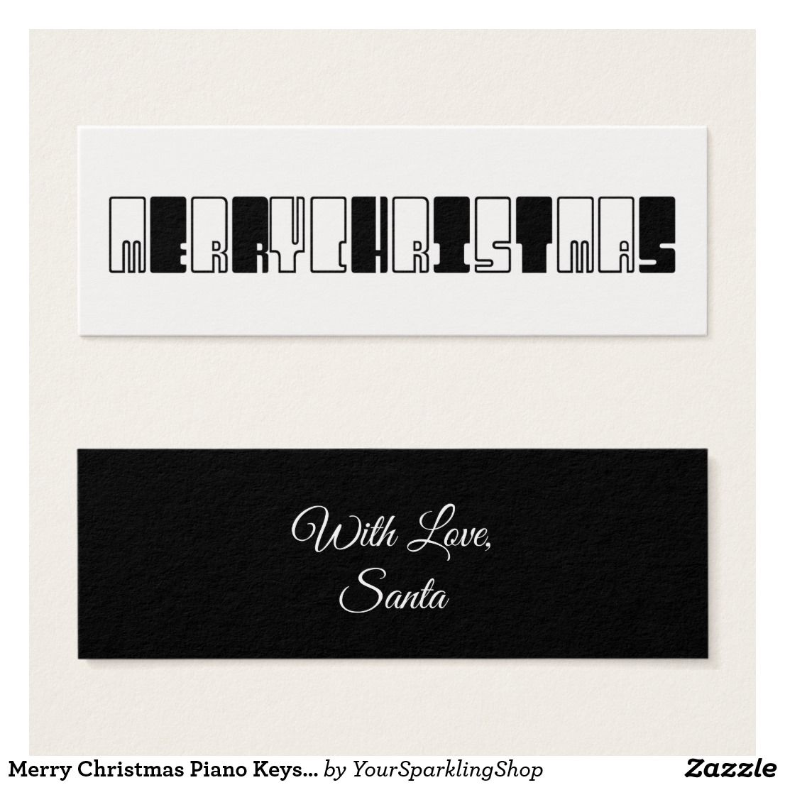 Merry Christmas Piano Keys Typography Black White | Pinterest ...