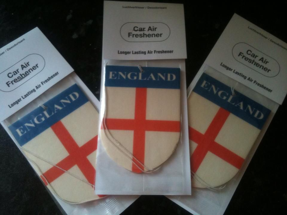 For sale on www.online-carboot.co.uk - England Car Air Fresheners ...