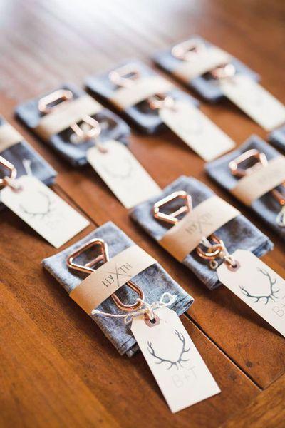 Aussergewöhnliche Details zur Erinnerung: 40 Geschenke für Ihre Hochzeitsgäste Image: 2