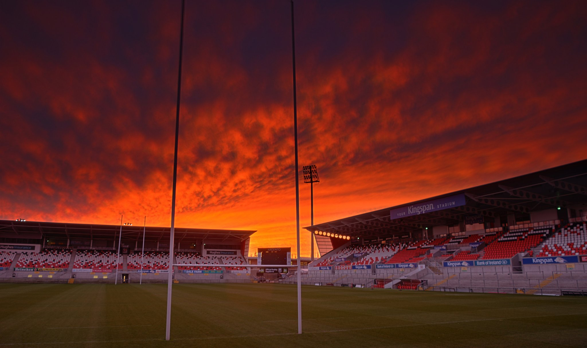 Sunset over Kingspan Stadium, Belfast (With images