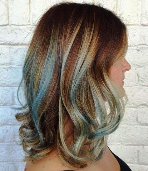 Highlight Hairstyles Gimme The Blues Bold Blue Highlight Hairstyles  Blue Highlights