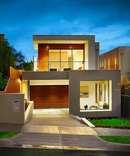 نمای خانه Contemporary House Plans Contemporary House Minimalist Home