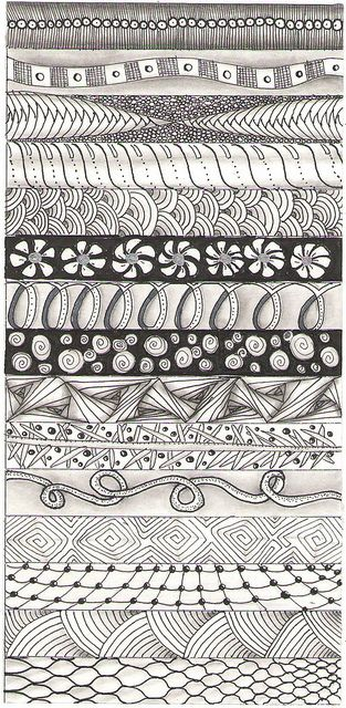 Strip 2 Tangle Art Zentangle Drawings Zentangle Patterns