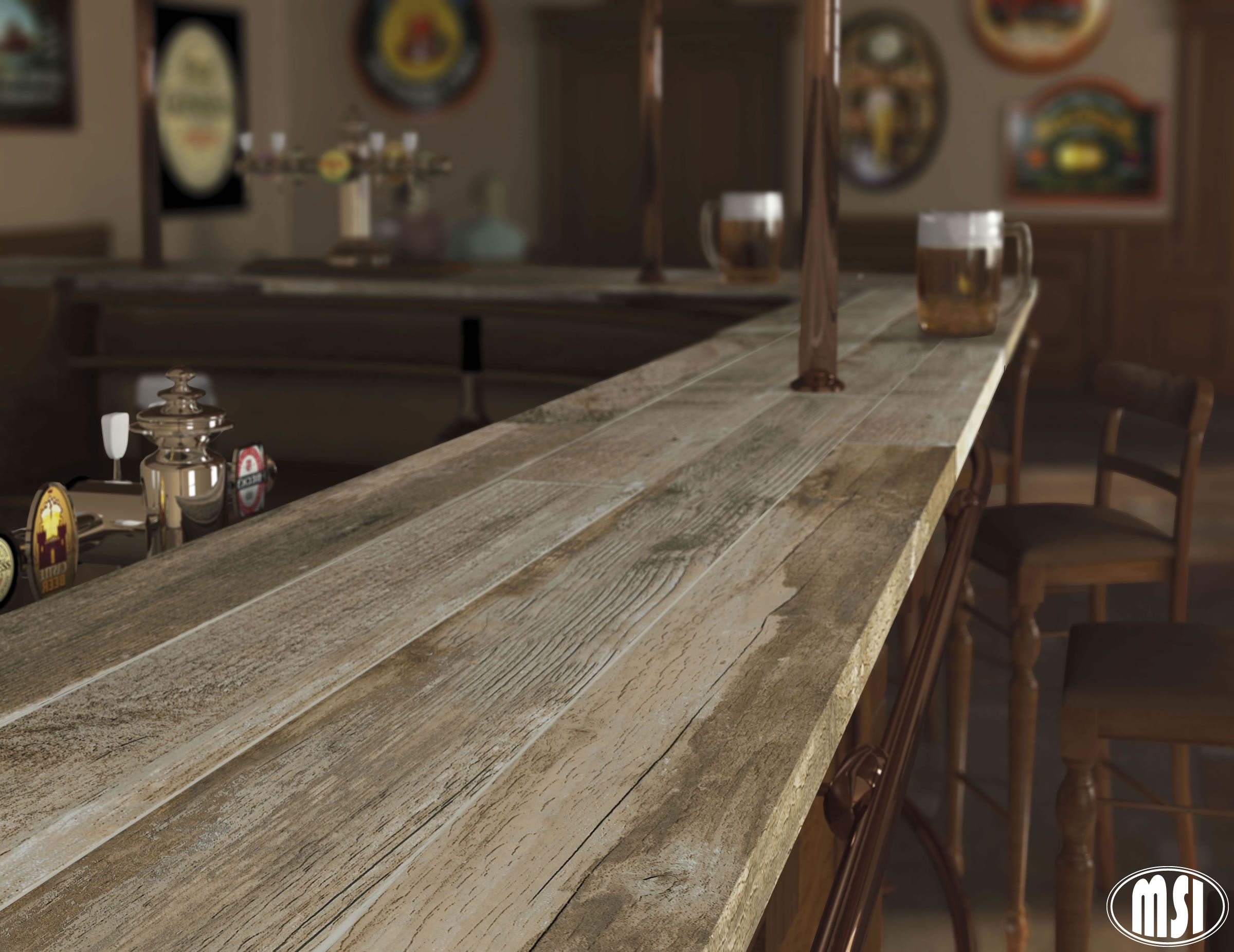 Brown Salvage Series Porcelain Tile Great Option For Bar