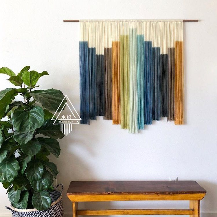 #Textile wall hangings. #decor #homestyle #wool Pinned by: www.smithgoldsmit... #Add #hangings #home #home decor bedroom #style #textile #touch #vintage #wall