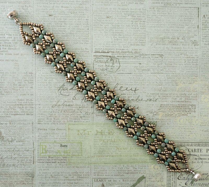 "15/0 seed beads Miyuki ""Duracoat Galvanized Pewter"" (D4222)  11/0 seed beads Miyuki ""Duracoat Galvanized Pewter"" (D4222)  DiamonDuo bead..."