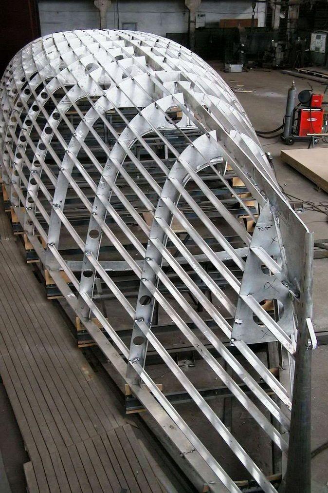 aluminium yacht production - Поиск в Google | Boat construction | Sailboat, Boat building, Boat ...