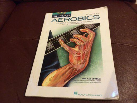 My well used copy of Guitar Aerobics by Troy Nelson