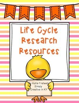 Are you studying life cycles with your students? If so, I've created a set of research resources to help you teach this unit!  This product is everything you need to conduct research on the life cycle of a butterfly, frog, chicken, ant, & plant! I've also included blank pages for any other life cycles you might study!