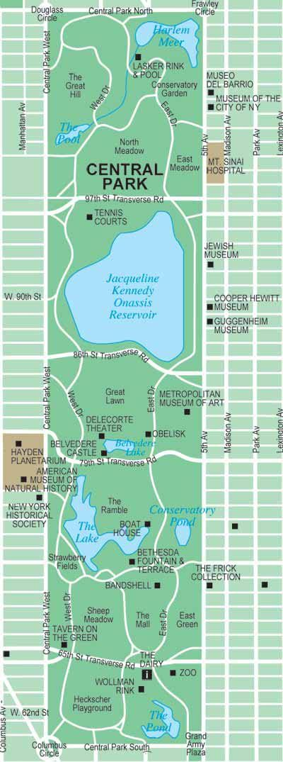 can there really be 843 acres of green space in manhattan new york city mapcity