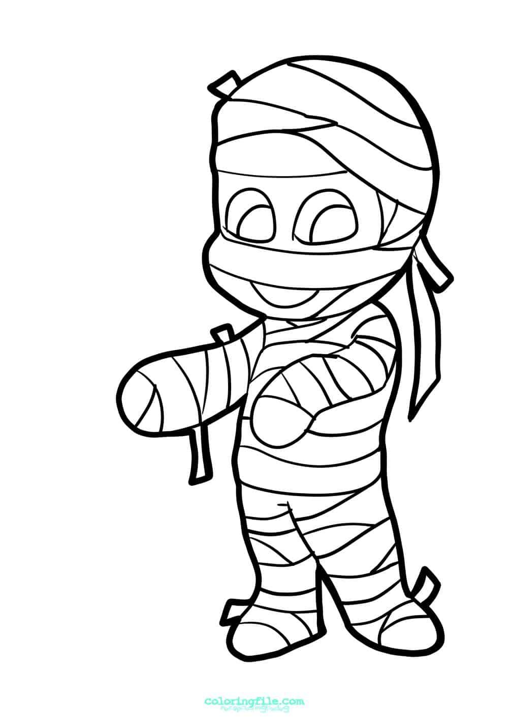 Halloween Mummy Coloring Pages In 2020 Halloween Coloring Pages Halloween Coloring Halloween Coloring Pages Printable