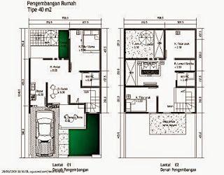 50+ contoh gambar denah rumah minimalis   house design