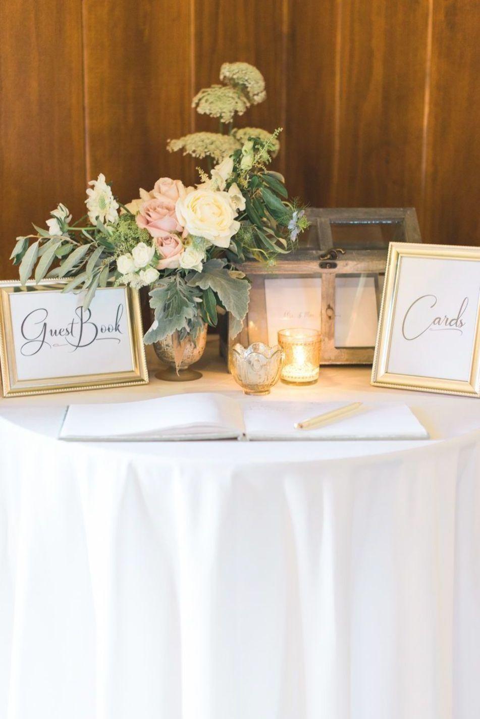 Guest Book Cards Table Pernikahan Inspirasi Romantis