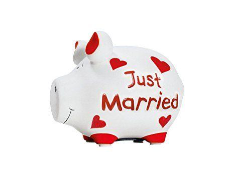Kcg Spardose Sparschwein Klein Just Married Hochzeitsgeschenk