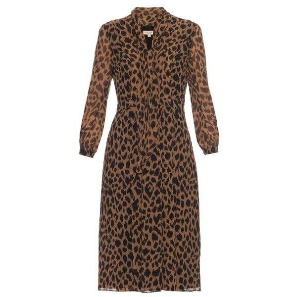 0919dd8902d78 Burberry London Liv leopard-print silk-chiffon dress (13.813.275 IDR) ❤  liked on Polyvore featuring dresses